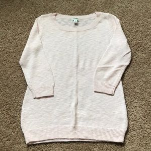 Old Navy Pink 3/4 Sleeve Sweater
